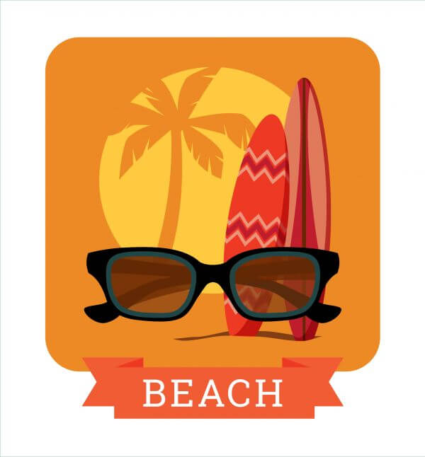 Summer illustration. vector