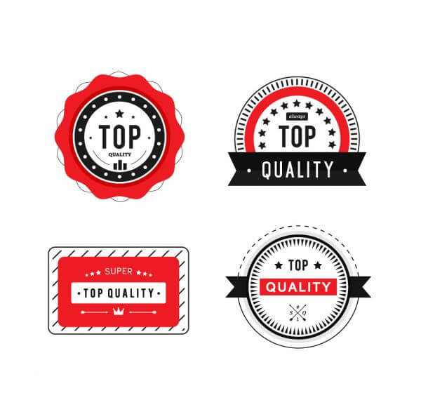 Top Quality Badges vector