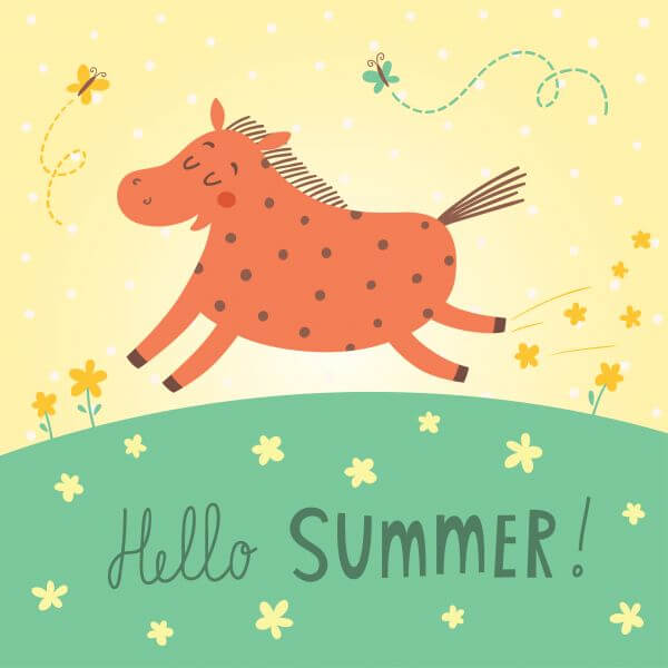 Hello summer vector card vector