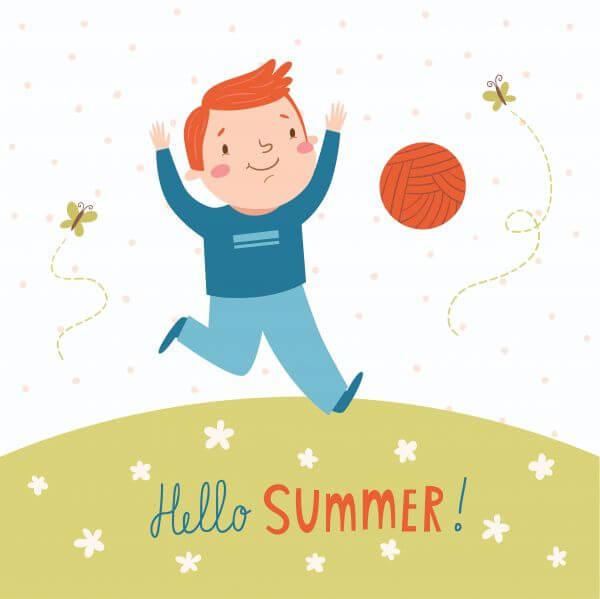 Hello summer vector card vector