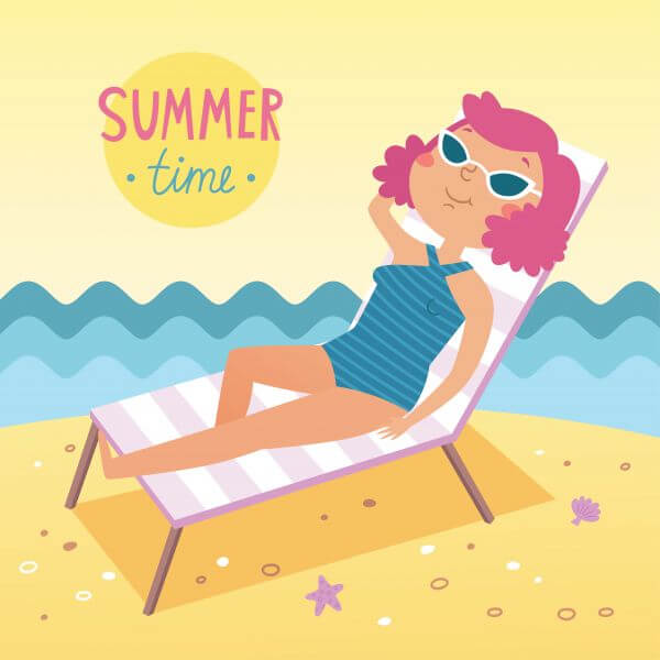 Summer time vector card vector