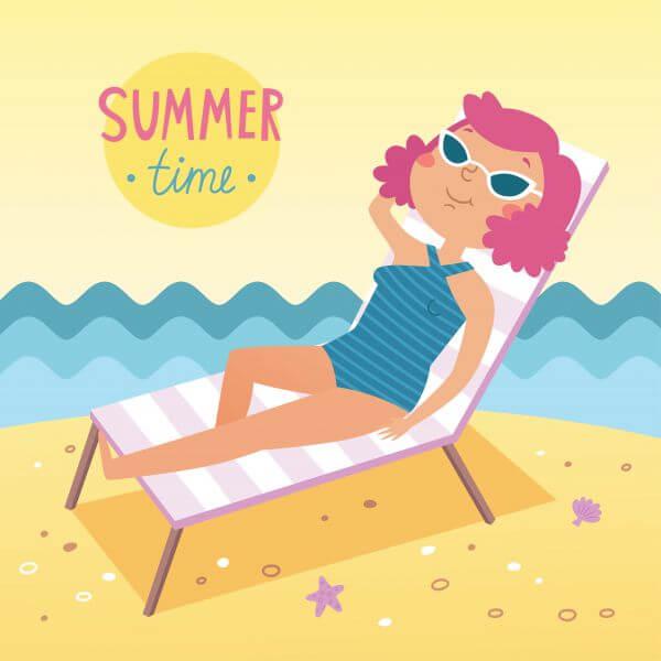 Summer time vector card vector