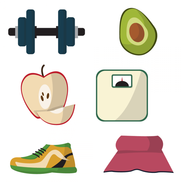 Healthy lifestyle diet vectors vector