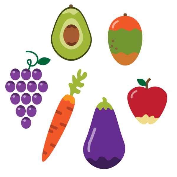 Healthy vegetables and fruit vector