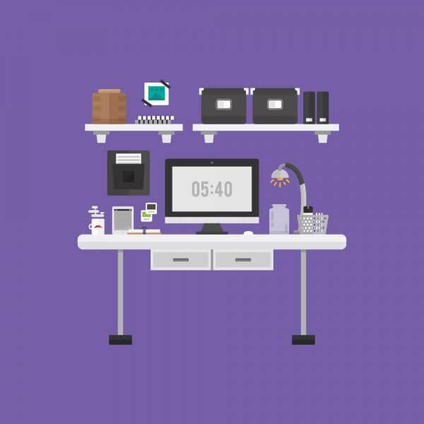 Modern Workspace vector