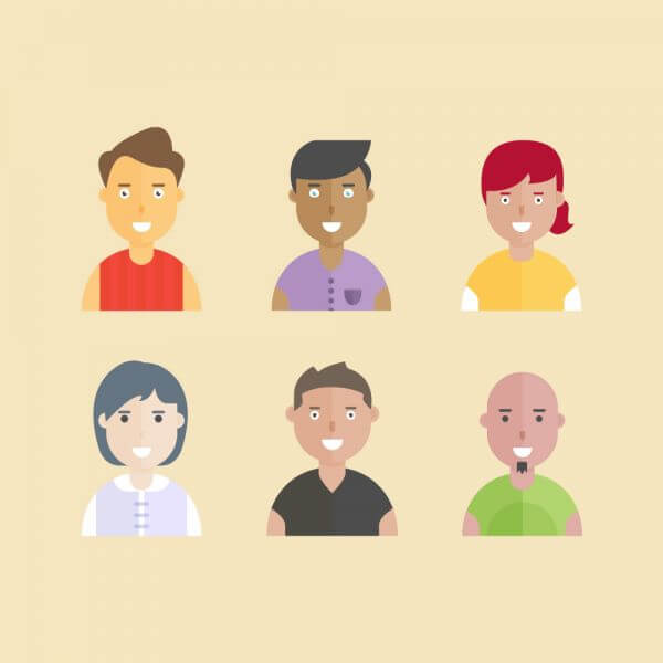Smiling People vector