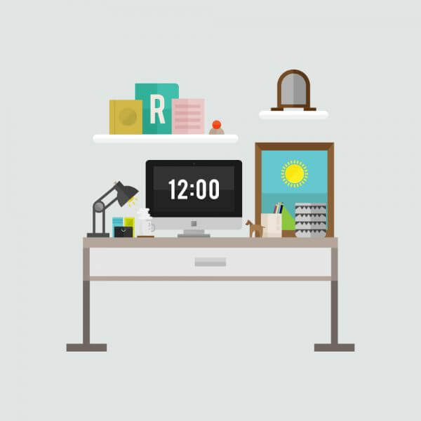 Modern Workspace vector