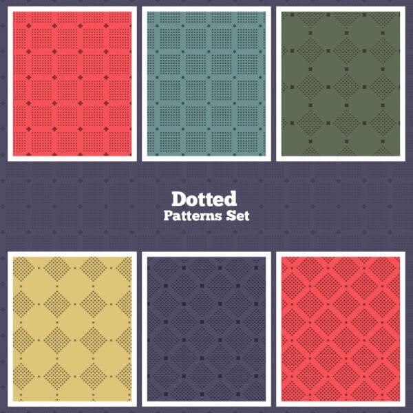 Vector Dotted Patterns Set vector