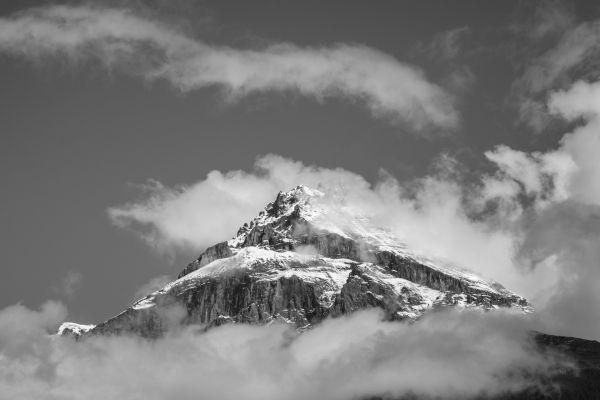 Mountain top (B&W) photo