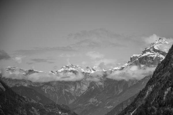 The Alps in Swiss (B&W) photo
