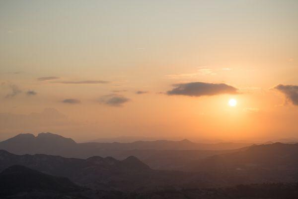 Beautiful sunset in San Marino photo