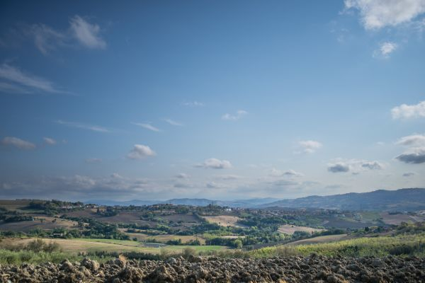 Wide angle landscape in Italy photo