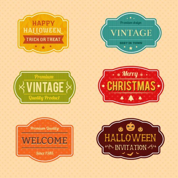 Holiday Vector Badges vector
