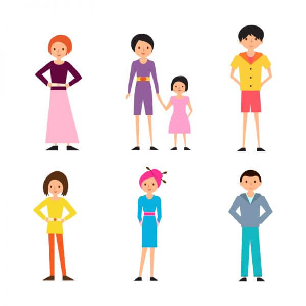 Cartoon People Vectors Set vector