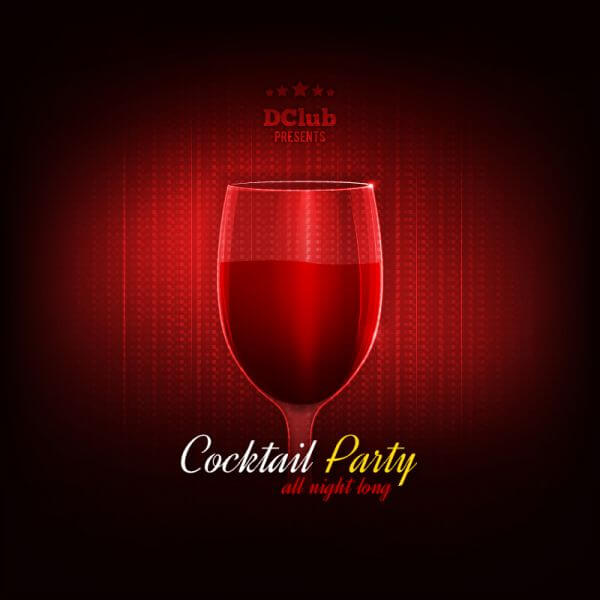 Cocktail Party Vector Invitation vector