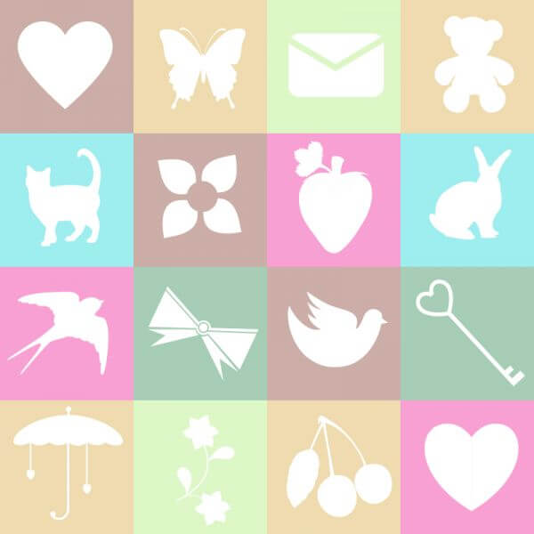 Cute spring and love elements on metro background vector