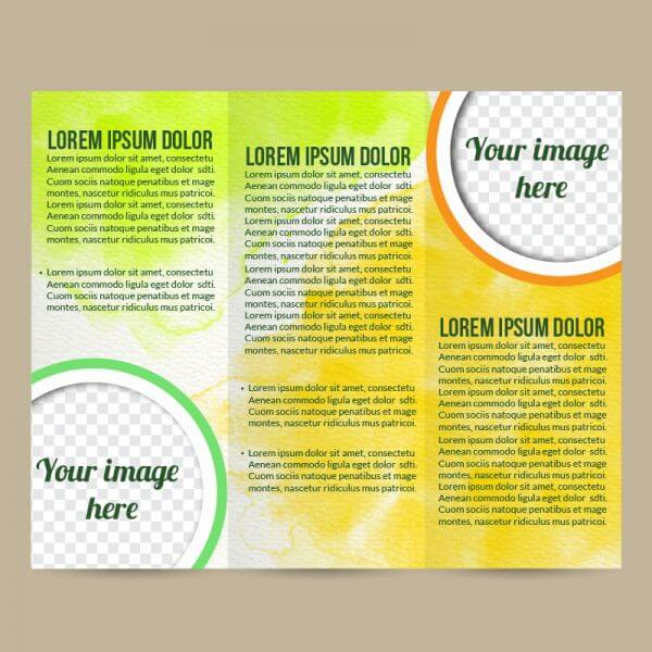 Watercolor brochure vector