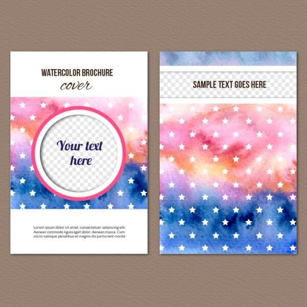Watercolor cover vector