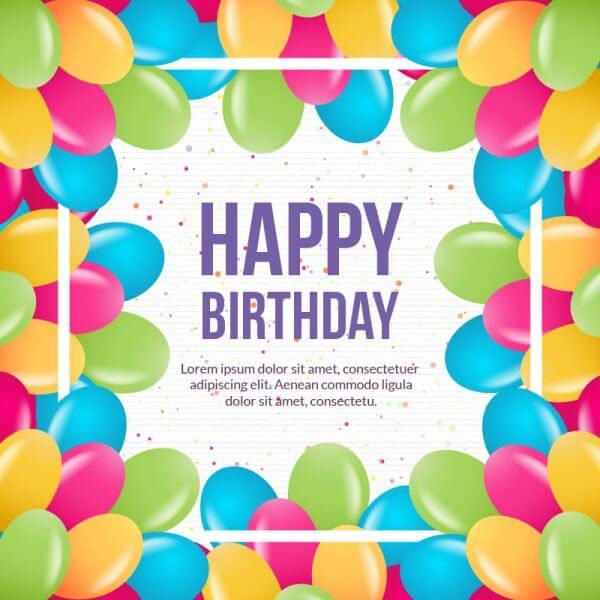Happy birthday vector illustration vector