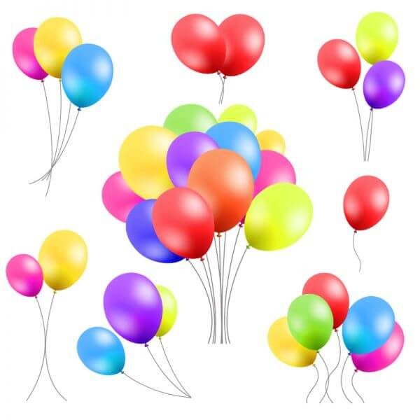 Vector set of balloons vector