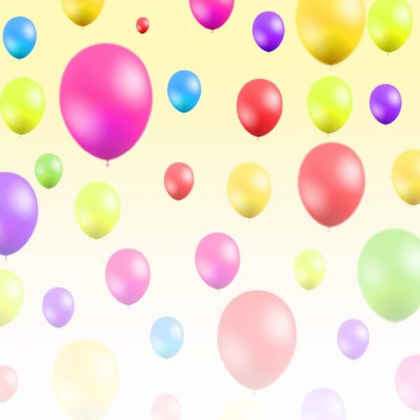 Abstract illustration with balloons vector