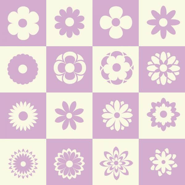 Flower illustration with metro background vector