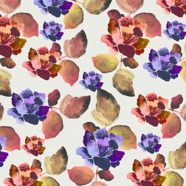 Watercolor background with vintage flowers vector