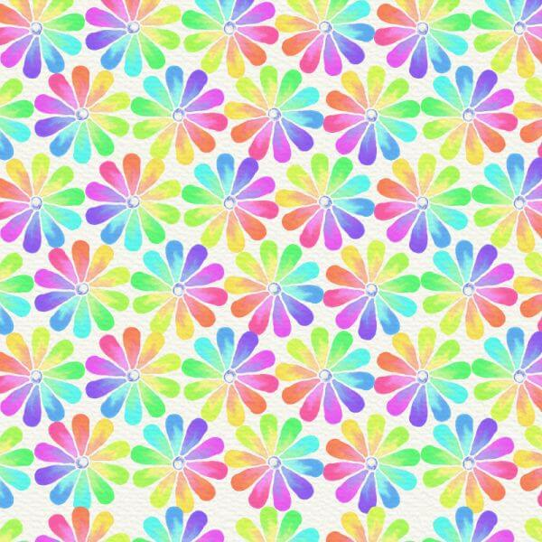 Watercolor abstract illustration with summer flowers vector