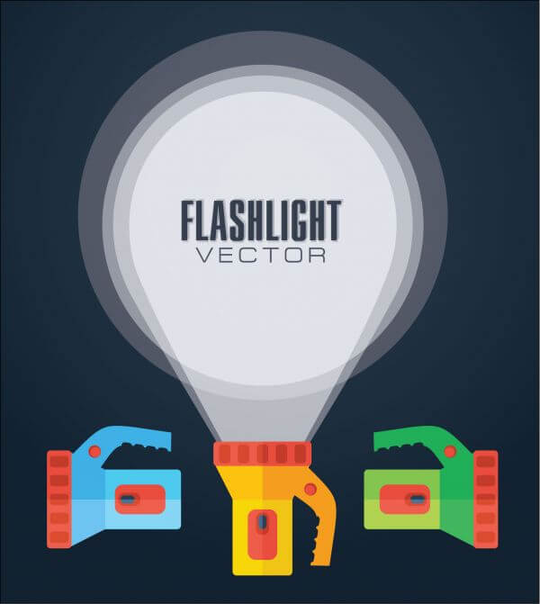 Flat vector illustration flashlight. vector