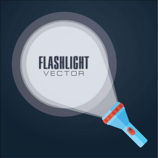 Flat vector illustration flashlight. vector