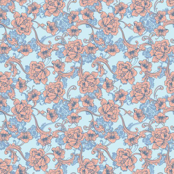 Seamless vector background. Baroque pattern  vector