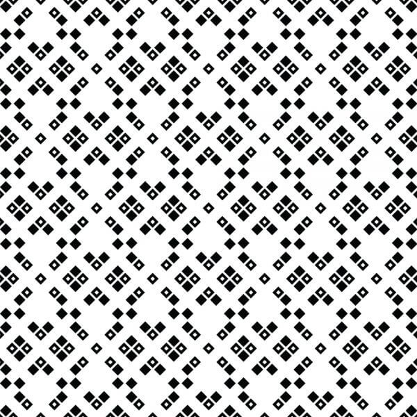 Black and White Squared Pattern vector