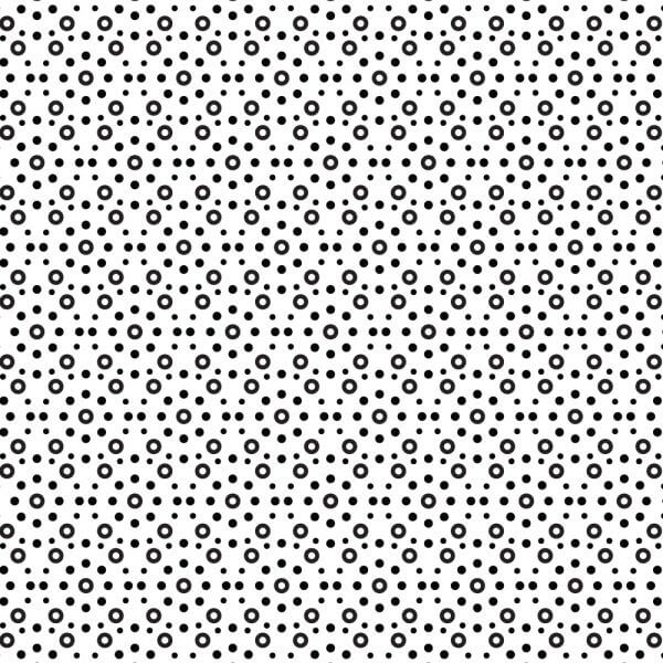 Circular Black and White Pattern vector