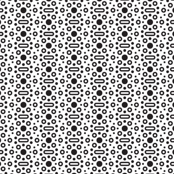 Black and White Rounded Dot Pattern vector