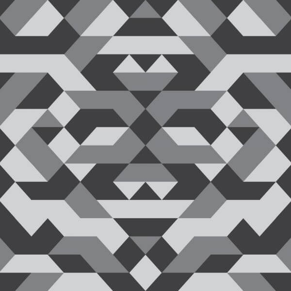 Geometric Grayscale Pattern vector