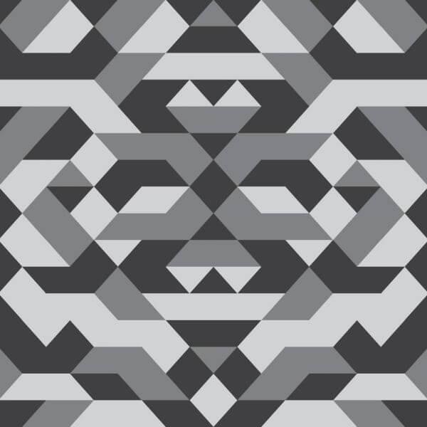 Geometric Grayscale Pattern vector