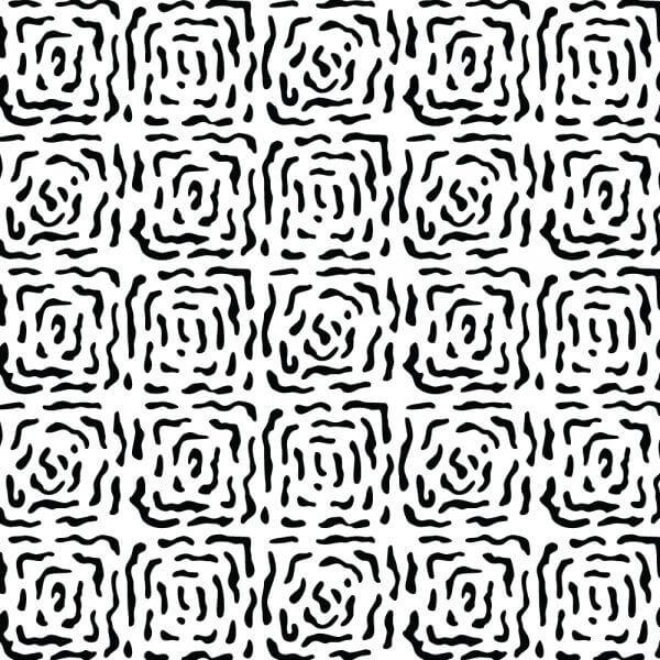 Modern Hand Drawn Square Black and White Pattern vector