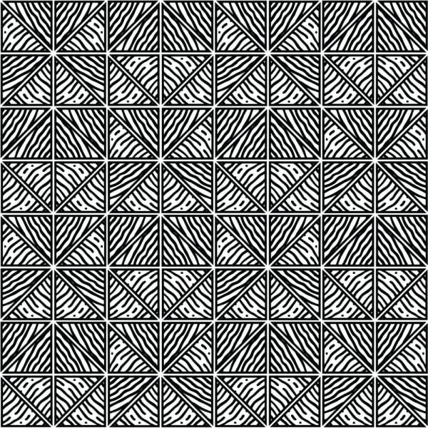 Hand Drawn Black and White Geometric Pattern vector