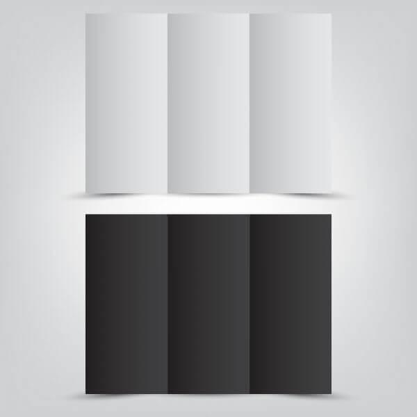 Tri Folded Brochure Template vector