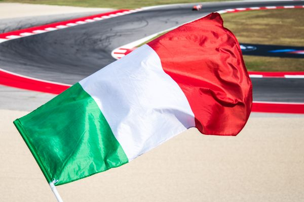 Italian flag at race photo