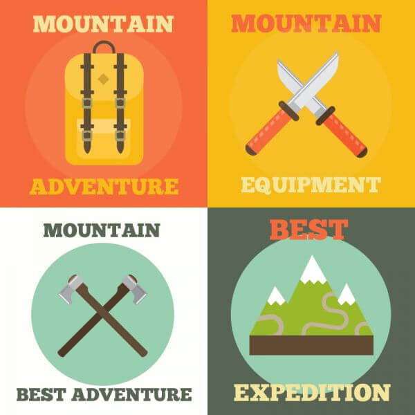 Mountain Adventure Icons vector