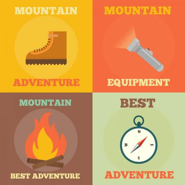 Mountain Adventure Icons vector