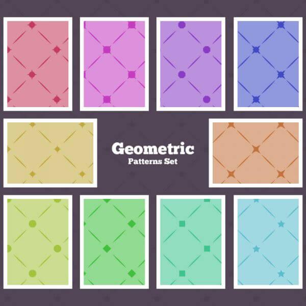 Seamless Geometrical Patterns vector