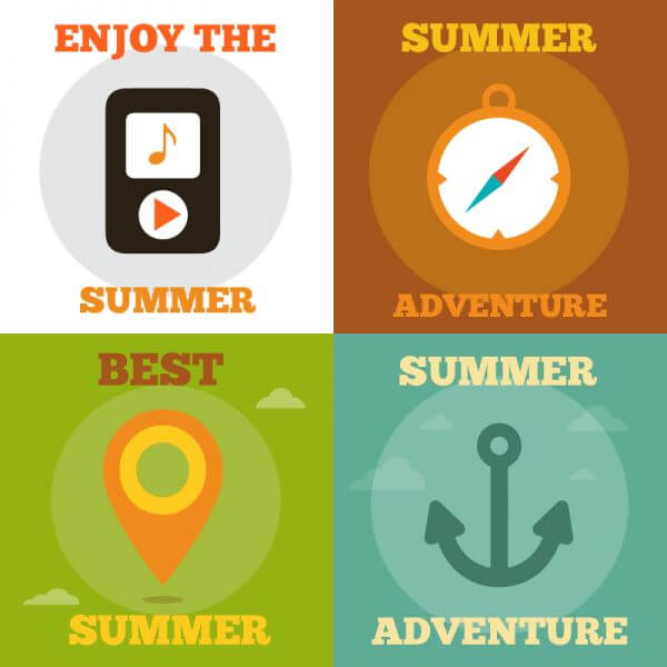 Summer Activity Icons vector