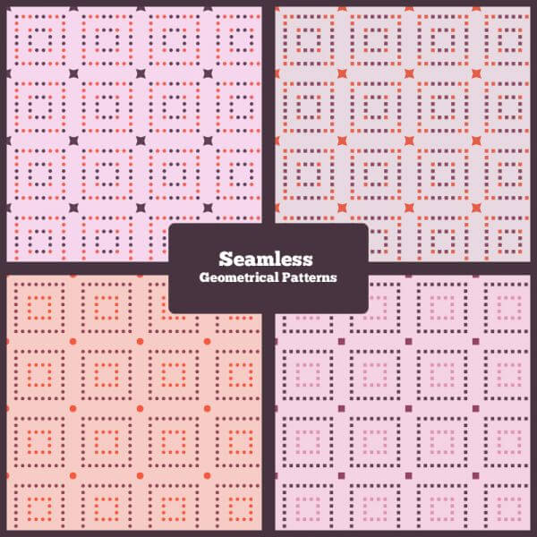Seamless Geometrical Patterns vector