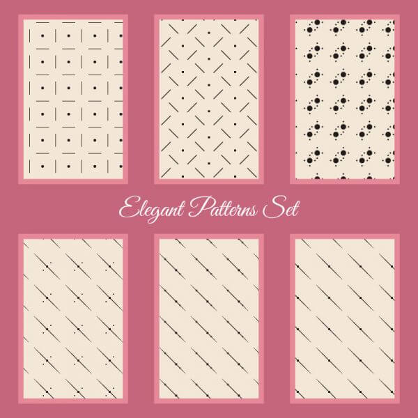Elegant Patterns Set vector