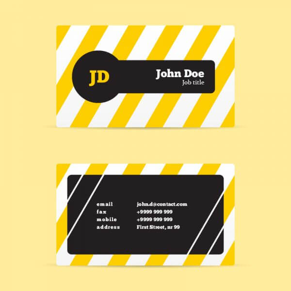 Stripped Business Card vector