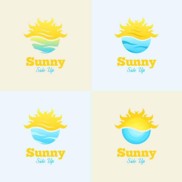 Sunny Side Up Logo vector