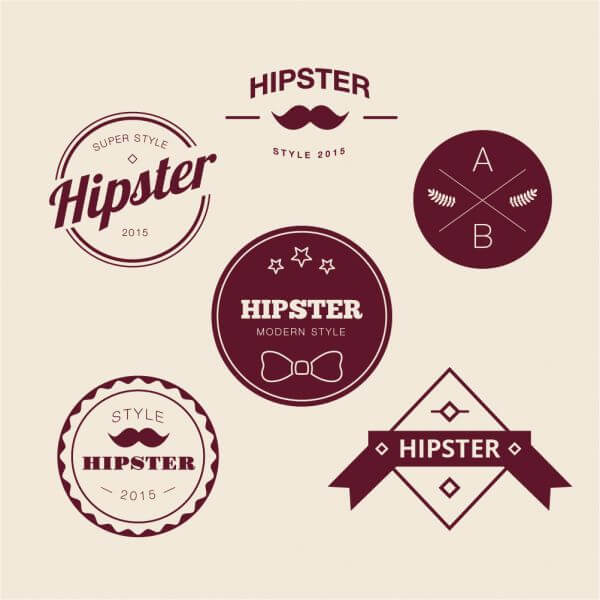Retro Vintage Icons or Logotypes set. Vector design elements, business signs, logos, identity, labels, badges and objects vector