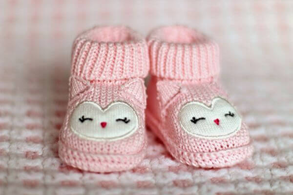 Pink Baby Booties photo